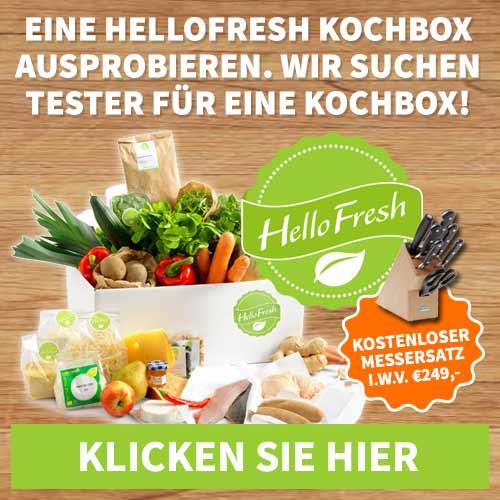Wir suchen Tester für eine HelloFresh Kochbox